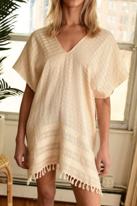 WAX + CRUZ  XO Caftan in Crema
