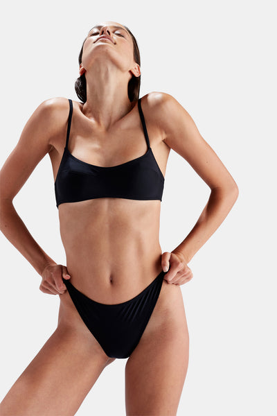 SOLID & STRIPED Elsa Bikini in Black