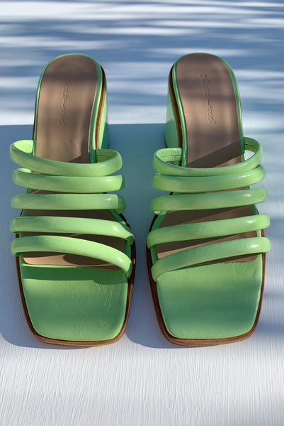 PALOMA WOOL | Magdalene Wedge Sandal - Fluorescent Green
