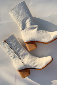 PALOMA WOOL | Emilia Mid Calf Boot - Off-White