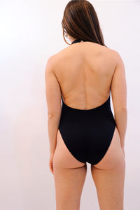 JONATHAN SIMKHAI |  Ring Tie One Piece - Black
