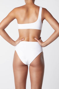 IT'S NOW COOL | Asymmetric One Shoulder Bikini Top - White