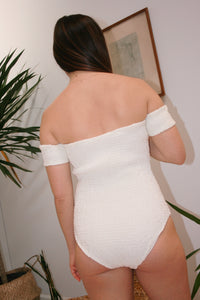 SOLID & STRIPED | Maria One Piece - Pearl White