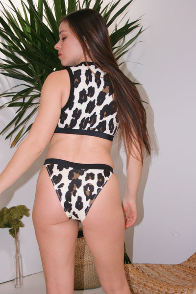SOLID & STRIPED | Stacey Bikini Bottom - Leopard
