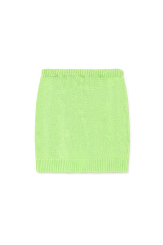 Kadabra Knit Skirt- Green Fluor