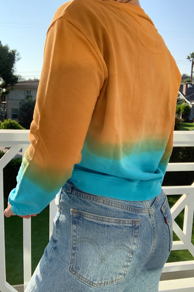 Hotel Ombre Sweatshirt - Orange/Blue Ombre