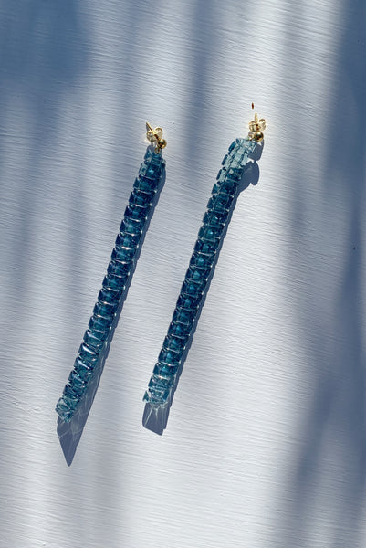 PALOMA WOOL | Letonia Crystal Earrings - Extralight Blue