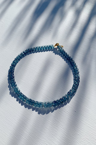 PALOMA WOOL | Prin Crystal Necklace - Extralight Blue
