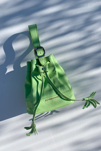 PALOMA WOOL | Maravilla Mini Hand bag - Fluorescent Green