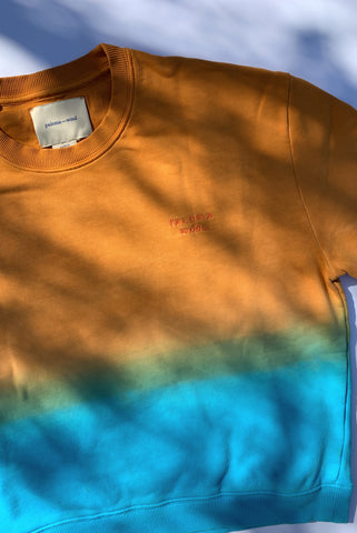 PALOMA WOOL | Hotel Ombre Sweatshirt - Orange/Blue Ombre
