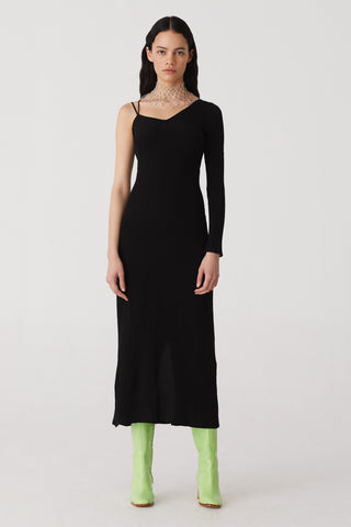 PALOMA WOOL | Linde Asymmetric Dress - Black
