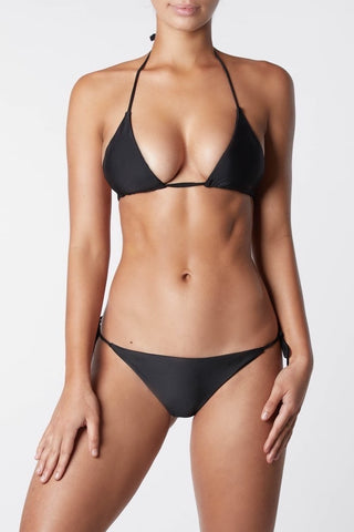 IT'S NOW COOL | Sliding Triangle Bikini Top - Black