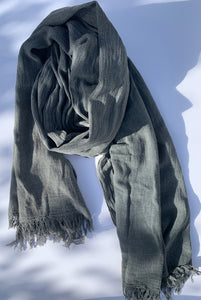 Palapa Pareo Cover up and Scarf - Vintage Gray Black