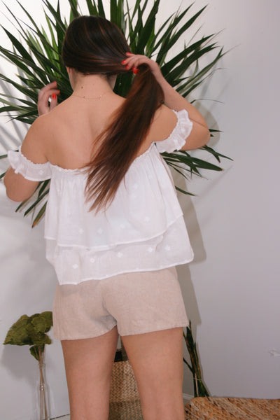ANAAK | Summer Off Shoulder Top - White