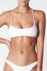 IT'S NOW COOL | Crop Bikini Top - White
