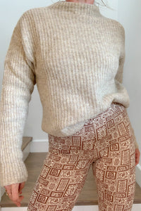 PALOMA WOOL | Monfort Wool Blend Rib Knit Sweater - Beige