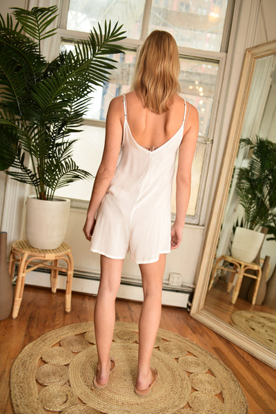 LACAUSA Zuma Playsuit in White