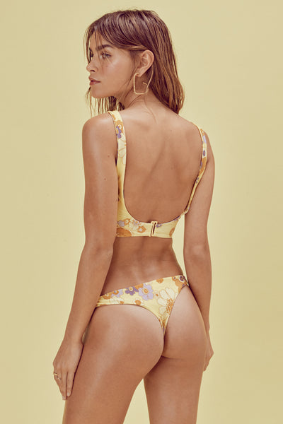 FOR LOVE AND LEMONS Lilian Knot Thong Sexy Bikini  Citrus