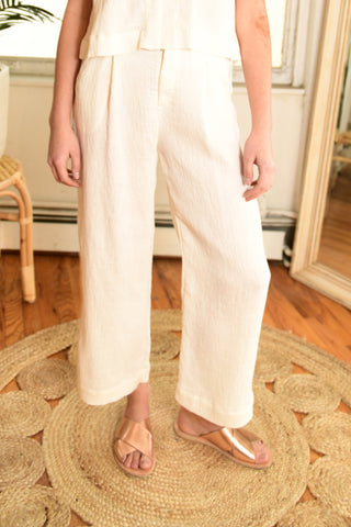 LACAUSA Azalea Trousers in Bone