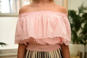 ANAAK Jaisalmer Off-shoulder Blouse in Peony