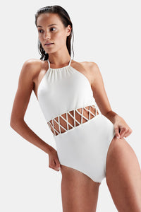 SOLID & STRIPED Swim Suite Barbara One Piece in Cream