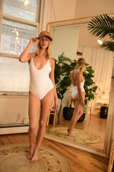 STATIC swimsuit Robertson One Piece in White