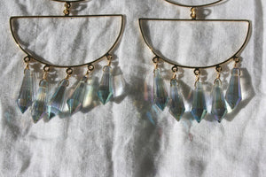 MERCEDES SALAZAR Crystal Cascade dangly Earrings Gold