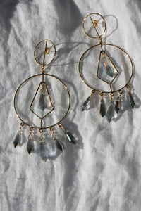 MERCEDES SALAZAR Crystal Drop Earrings Gold