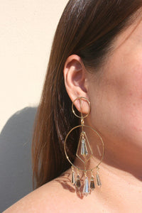 MERCEDES SALAZAR | Crystal Drop Earrings - Gold