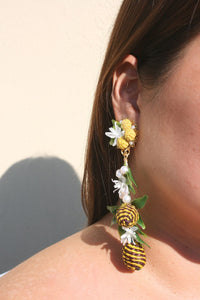 MERCEDES SALAZAR | Pineapple Earrings - Yellow