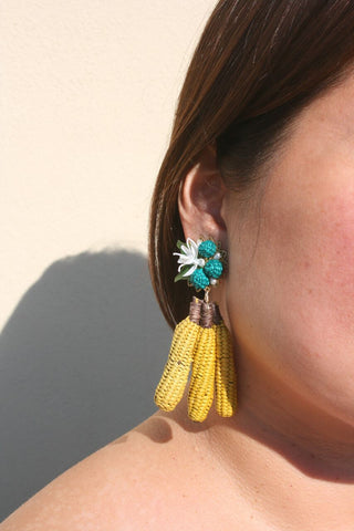 MERCEDES SALAZAR | Bananas Earrings - Yellow