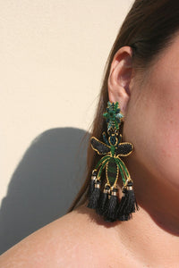 MERCEDES SALAZAR | Wasp Earrings - Black