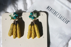 MERCEDES SALAZAR Bananas clip on Earrings Yellow