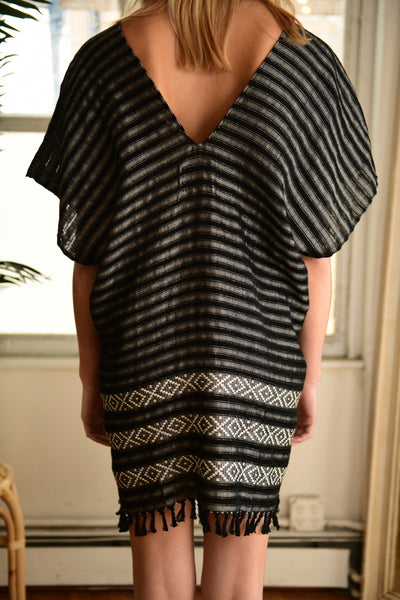 WAX + CRUZ XO Caftan in Black and White