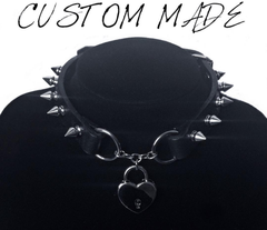 Restless Mind Custom Made Leather Choker