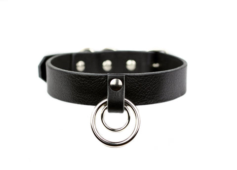 Restless Mind Choker Evolet silver Leather Choker