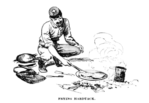 Civil war, food, rations, hard tack, bread