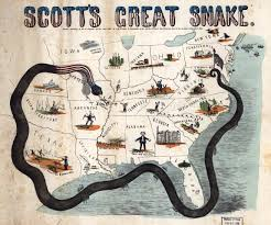 union blockade, scott's great snake, civil war food, civil war rations