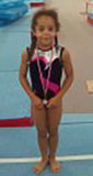 Arete Leotards Brand Rep Maisie first gymnastics leotard