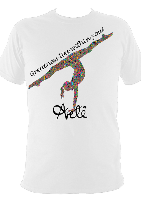 "Girl's ""Greatness"" Aretê T-Shirt - Arete Leotards"
