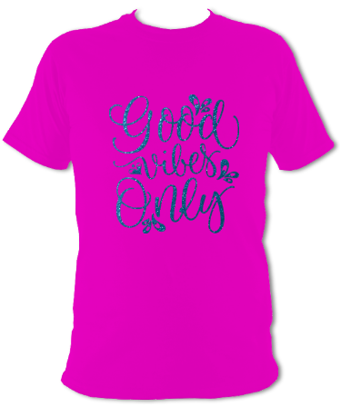 'Good Vibes Only' T-Shirt - Arete Leotards