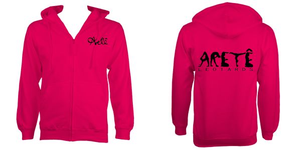 Unisex Zipped Aretê Hoodie (Child Sizes) - Arete Leotards