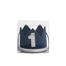 Sweet Wink - Navy/Gray #1 Boy Crown