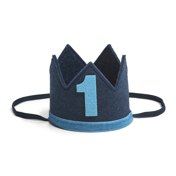 Sweet Wink - Navy/Blue #1 Boy Crown