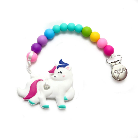 Getting Sew Crafty - Clip on Teether - Unicorn {subtle/bold}