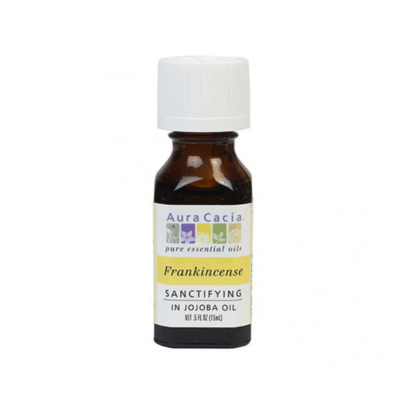 Aura Cacia Frankincense (in jojoba oil) 0.5 fl. oz.
