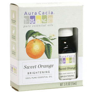Aura Cacia Sweet Orange Essential Oil (Boxed) .5 fl. oz.