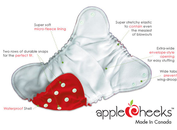 Apple Cheeks Sized Envelope Cover Cloth Diapers