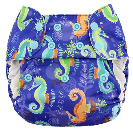 Blueberry One Size Deluxe Pocket Diapers w/ Organic Cotton Inserts