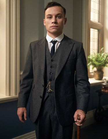 Mens Peaky Blinders Michael Gray Vested Suit